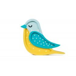 Lampa Little Lights ptak żółty/niebieski