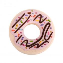 Lou Lou Lollipop Gryzak silikonowy Donut Pink