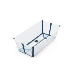 Wanienka Flexi Bath X-Large Transparent Blue STOKKE