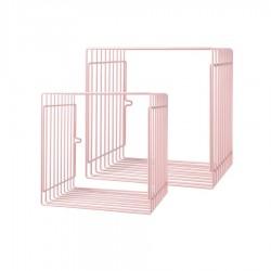 Półka metalowa 2szt Pink