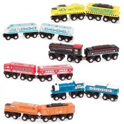Drewniany pociąg 2-wagonowy Wood & Wheels