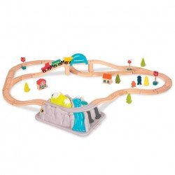 Kolejka Górska Wooden Train Set in a Bucket