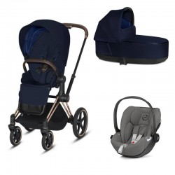 Cybex Priam 2.0 3w1 Rose Gold - Midnight Blue Plus