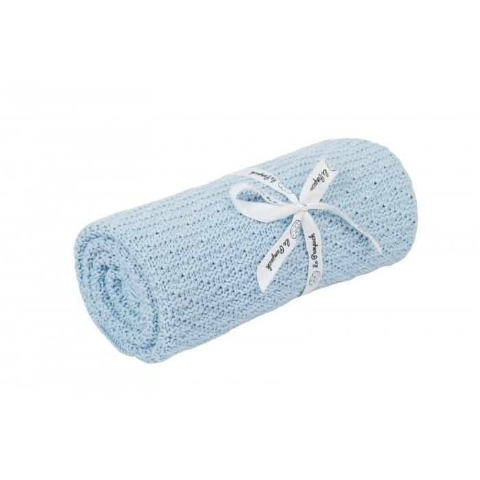 Le Pampuch Kocyk bambusowo-bawełniany baby blue