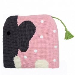 Franck Fischer Szydełkowa poduszka Wilfred różowy słoń
