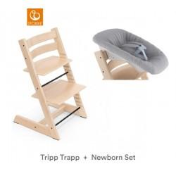 STOKKE  Krzesełko Tripp Trapp + Leżaczek Newborn Set