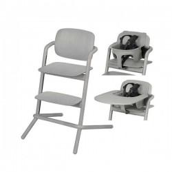 Krzesełko + BabySet + Tacka Cybex Lemo Grey Wood