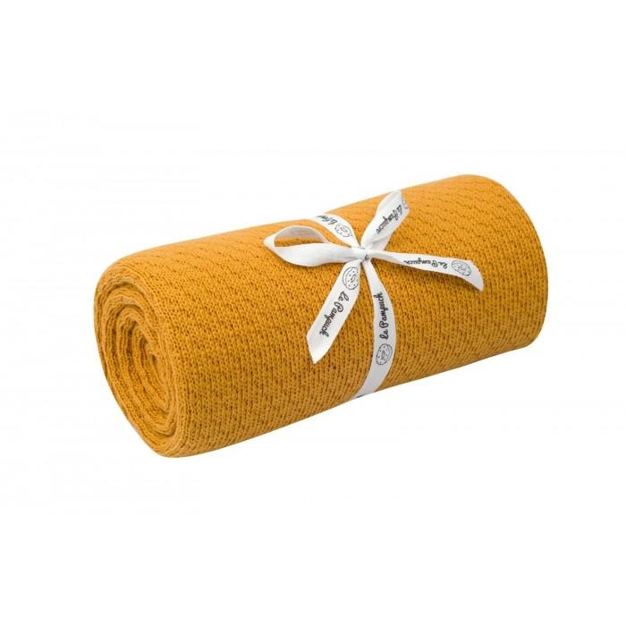 Le Pampuch Kocyk bawełniany zimowy musztarda