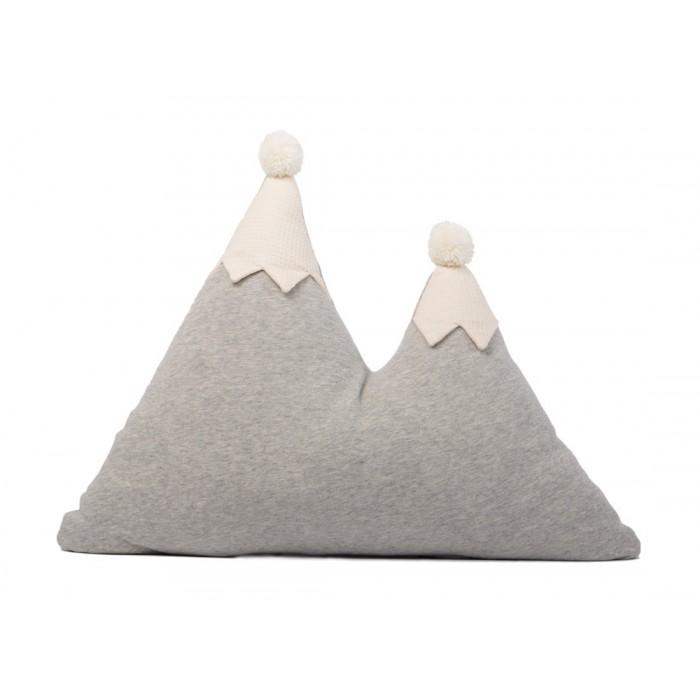 Poduszka Nobodinoz Snowy Mountain gris vigore