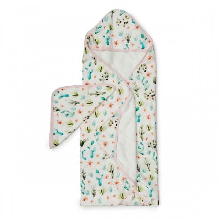 LouLou Lollipop Muślinowy ręcznik kąpielowy Cactus Floral