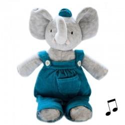 Słonik Alvin przytulanka z pozytywką