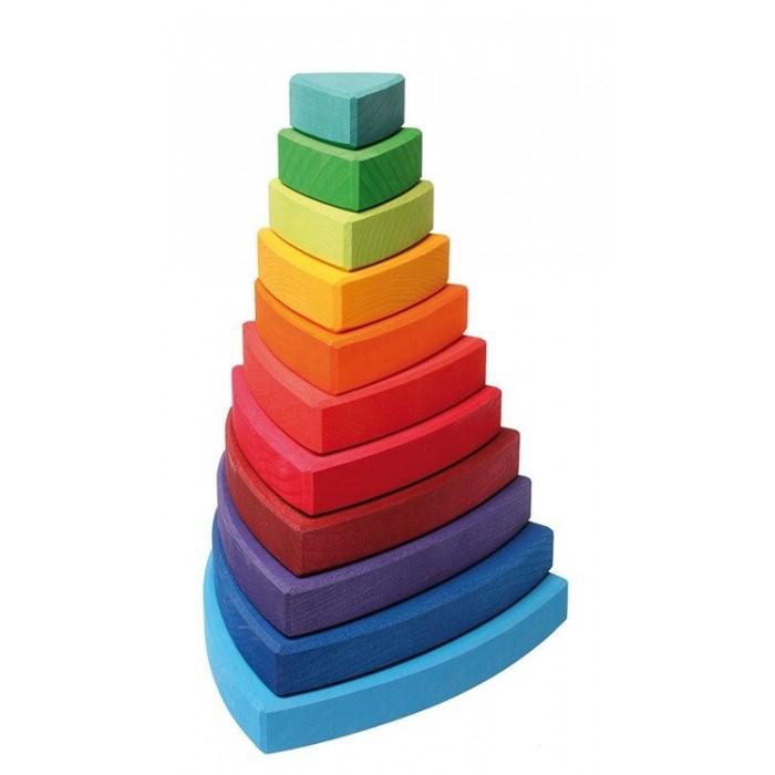 Duża trójkątna kolorowa wieża 1+ Grimm's
