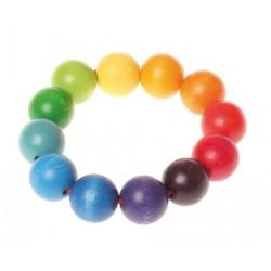 Kolorowe perełki na rączkę 0+ Grimm's