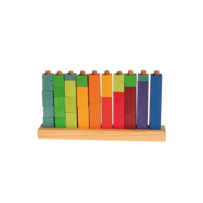 Kolorowe klocki do zabawy w liczenie, 3+, Grimm's