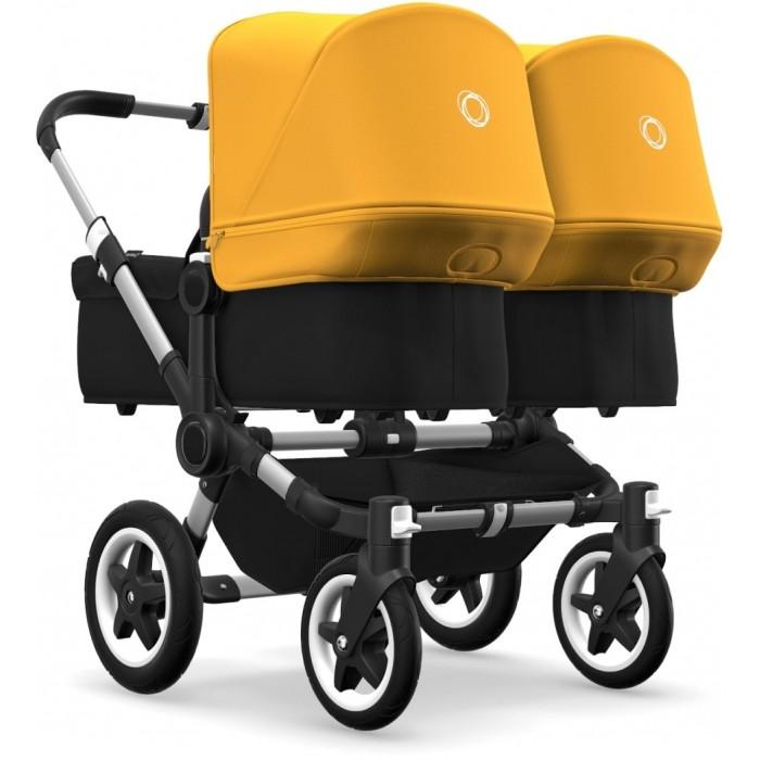 Bugaboo Donkey2 Twin Aluminium Black/Sunrise Yellow