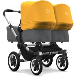 Bugaboo Donkey2 Twin Aluminium Grey Melange/Sunrise Yellow
